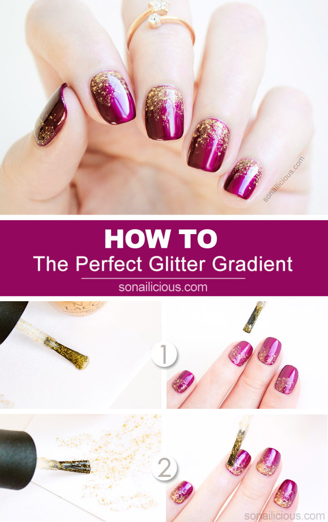 2 Genius Tips For A Perfect Glitter Gradient + Tutorial