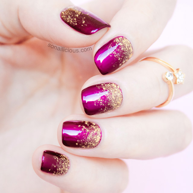 2 genius tips for a perfect glitter gradient tutorial glitter gradient manicure prinsesfo Gallery