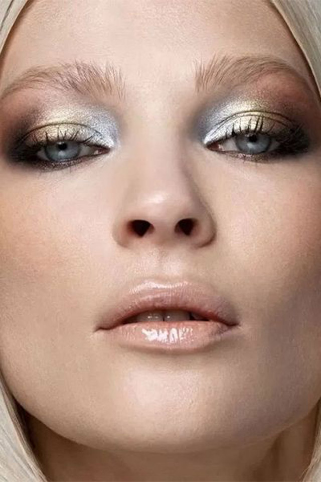 smoky eye gold makeup ideas