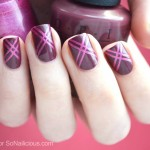 Easy Marsala Nail Art – Tutorial