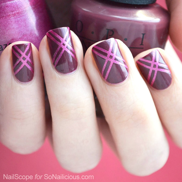 easy marsala nail art