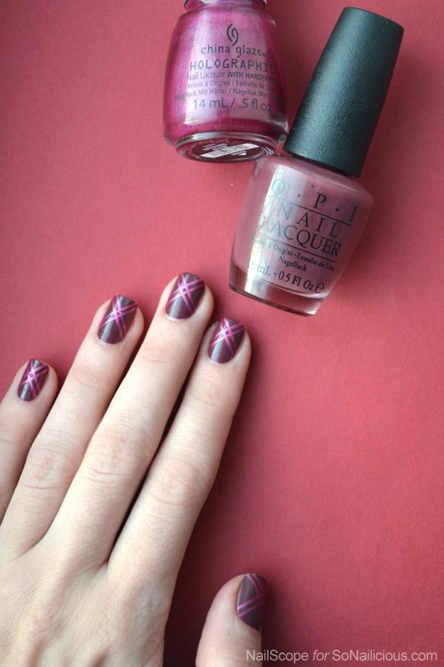 marsala nail art
