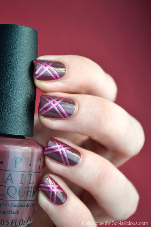 Easy Marsala Nail Art - Tutorial
