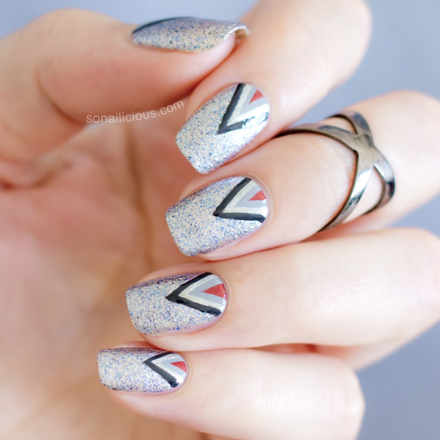 50 shades of grey nail art