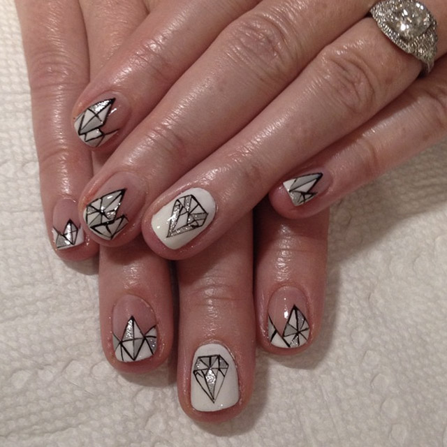 Diamond nails by @superflynails