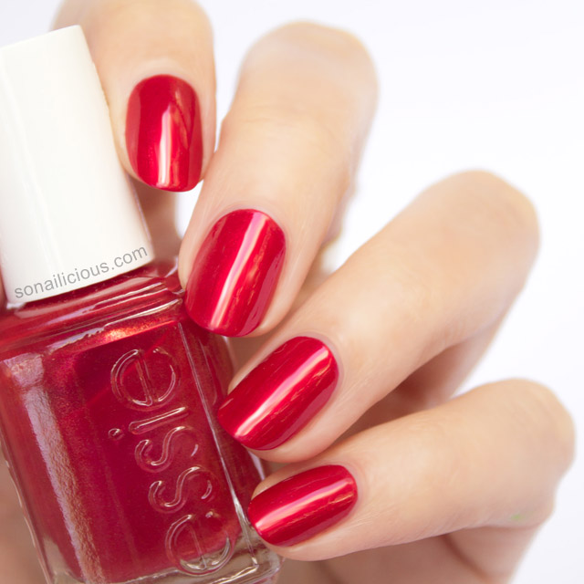 Essie Metallic Gold Nail Polish: 7 Sensual Red Nail Polishes For Valentine's Day