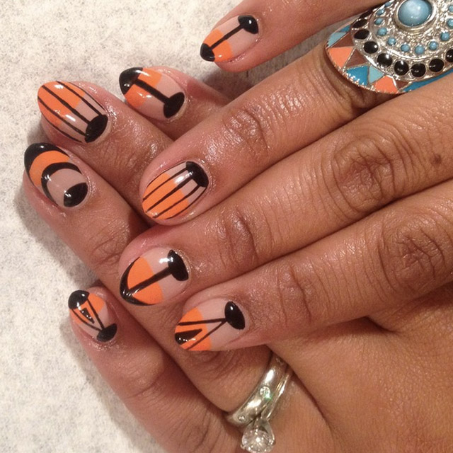 Fresh take on SF Giants nail art by Mia @superflynails