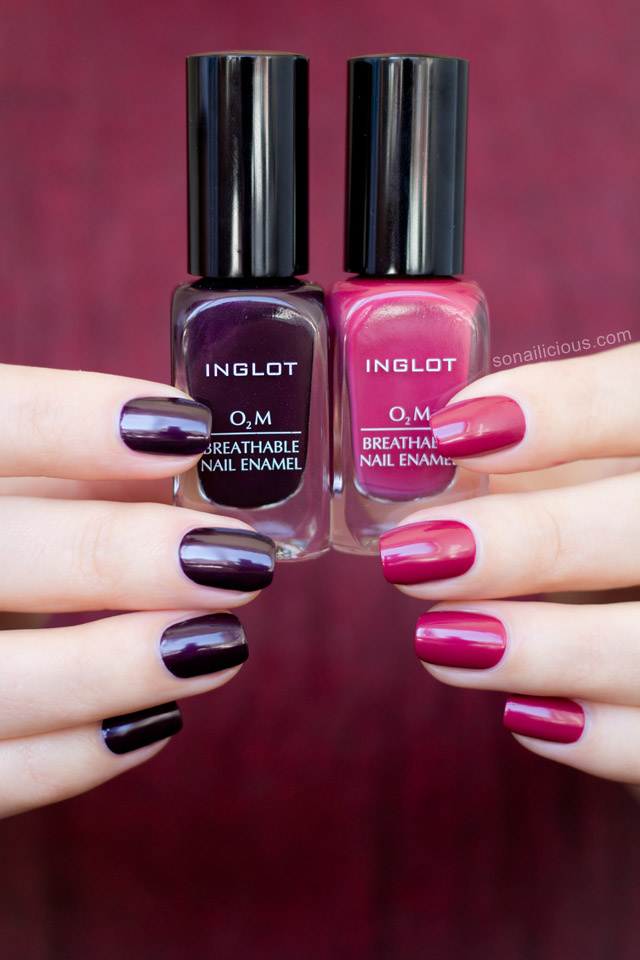Inglot breathable polish swatches review