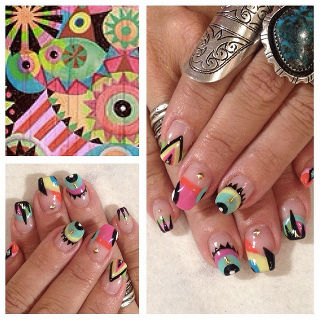 MayaHayuk inspired nails by Mia @superflynails