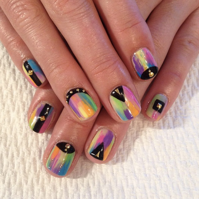 Rainbow nails by Mia @superflynails