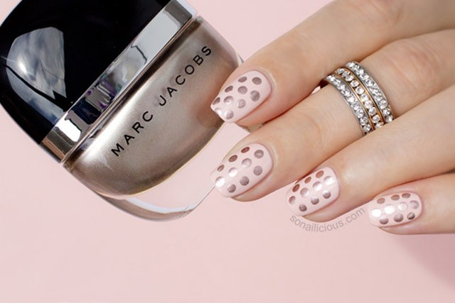 Rose Gold Nails marc jacobs gatsby