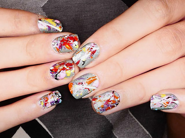 The best 12 nail art ideas from nyfw fall 2015 desigual nail art mac cosmetics desigual aw 2015 runway nail art mac cosmetics prinsesfo Images