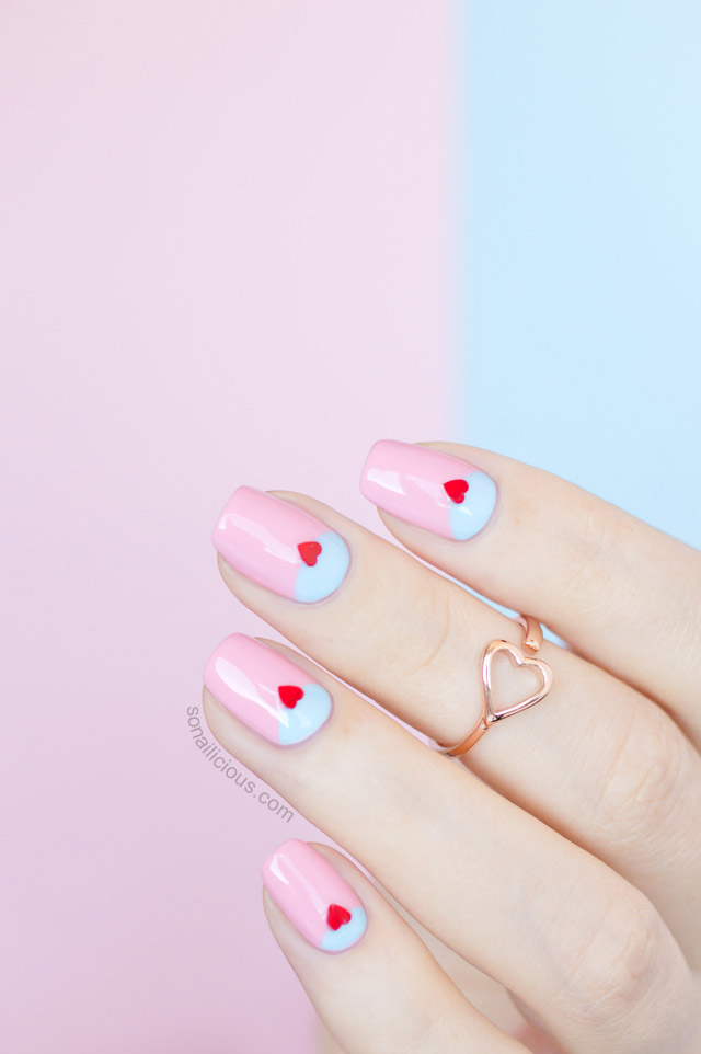 2 Easy Valentine\'s Day Nail Ideas With NCLA Toppers