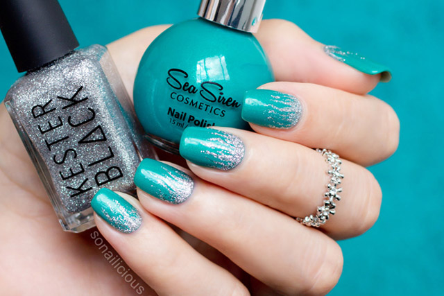 Silver Flames Nail Art With Sea Siren Jealousea