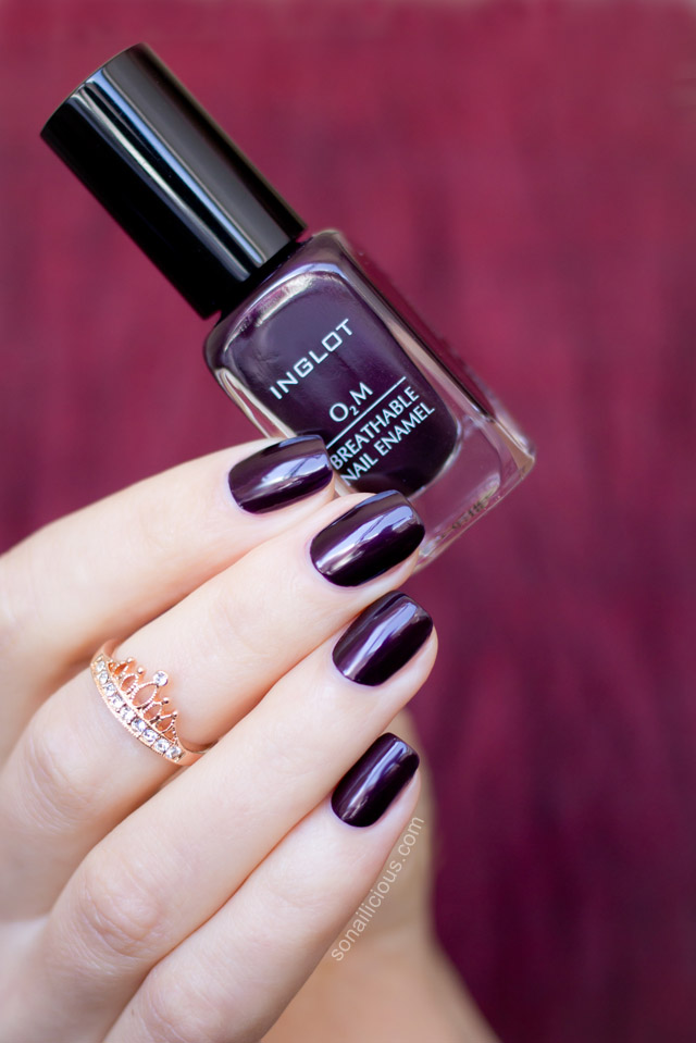 Marsala Perfect Inglot O2m Breathable Nail Polish Review