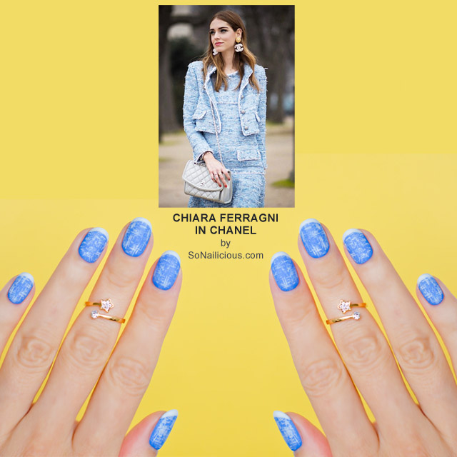 CHIARA FERRAGNI IN CHANEL NAILS