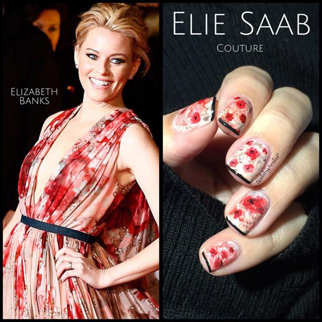 Elie Saab manicure by @NailsByArelisP