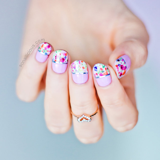 3 spring nail art ideas with nail wraps plus tutorials floral spring nail art prinsesfo Images