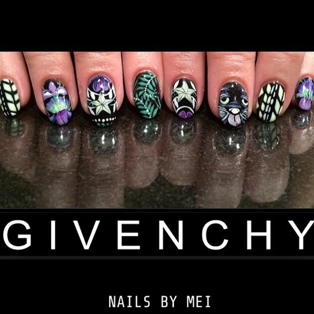 Givenchy nails by Mei