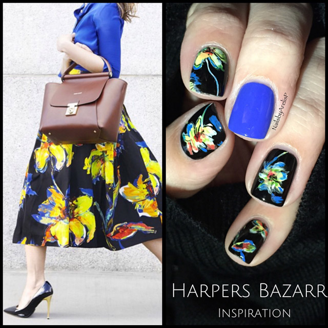 Harpers Bazaar inspired manicure by @NailsByArelisP