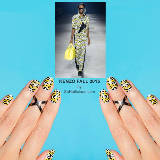 Kenzo Fall 2015 Nails