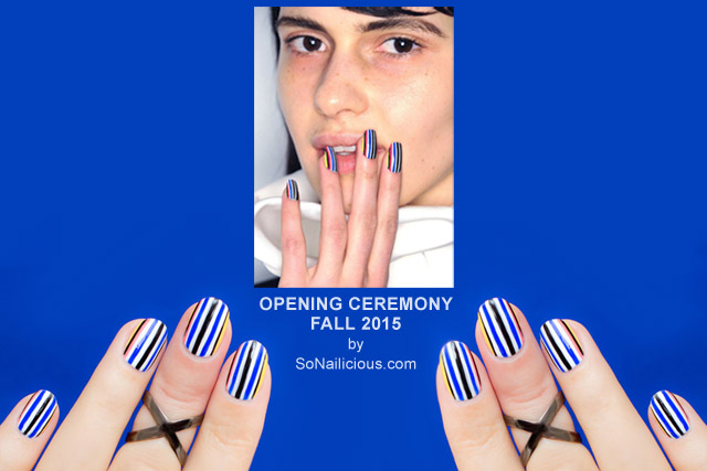 Opening Ceremony Fall 2015 Kodak inspired nail art
