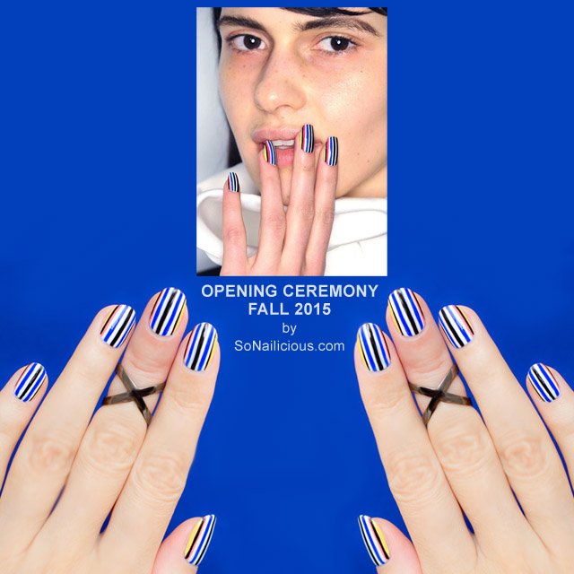 Opening Ceremony Fall 2015 Kodak inspired nails