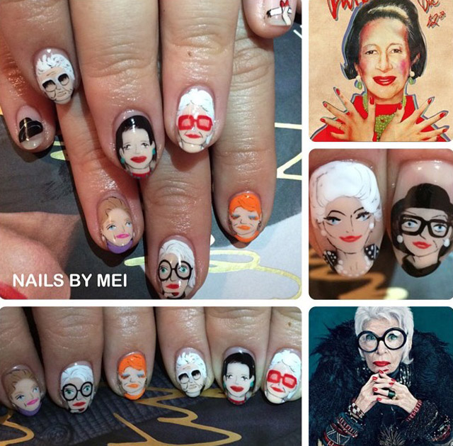 Style icons nails by Mei