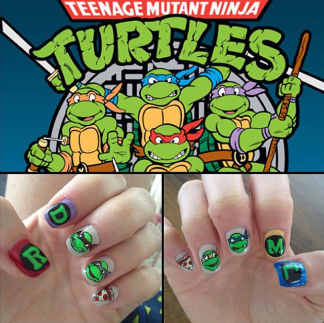 Teenage mutant ninja turtle nails by Mei