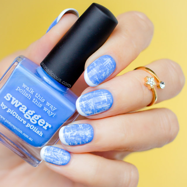 blue tweed chanel nails nafw 2015