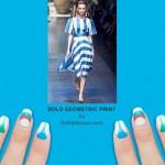 NAFW 2015 Day 4 – Bold Geometric Print Nails