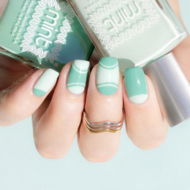 half moon manicure tutorial
