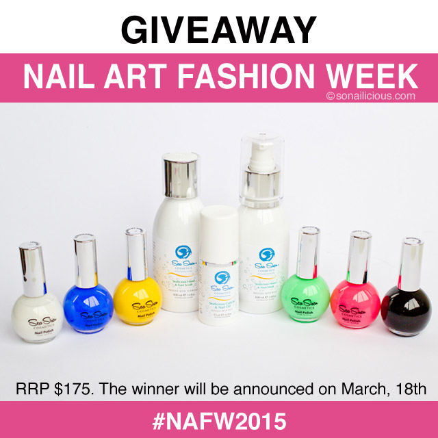 nail art fashion week fall 2015 giveaway