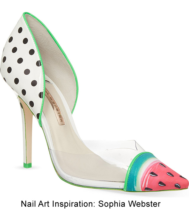 sophia webster watermelon shoes