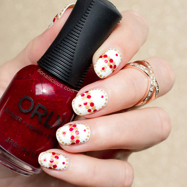 Faberge Easter Egg Nail Art Orly Star Spangled