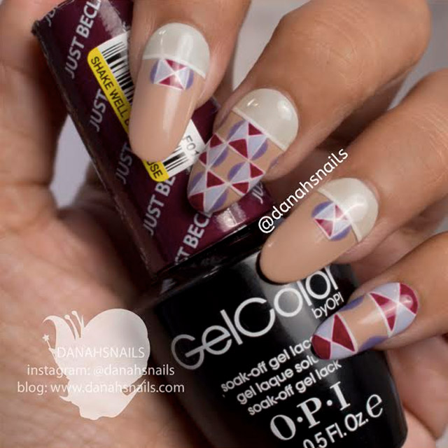 Geometric nails by Danah Alfares