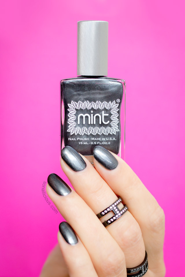 best gunmetal nail polish mint let's jet