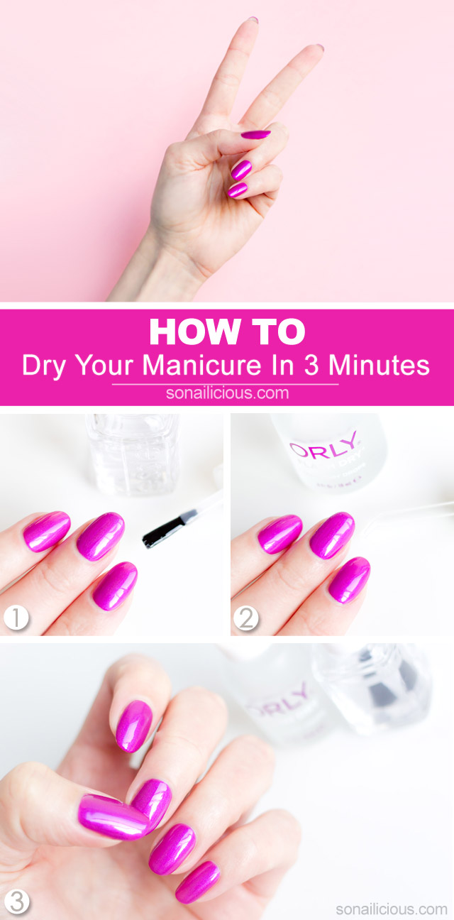 how to dry nails fast