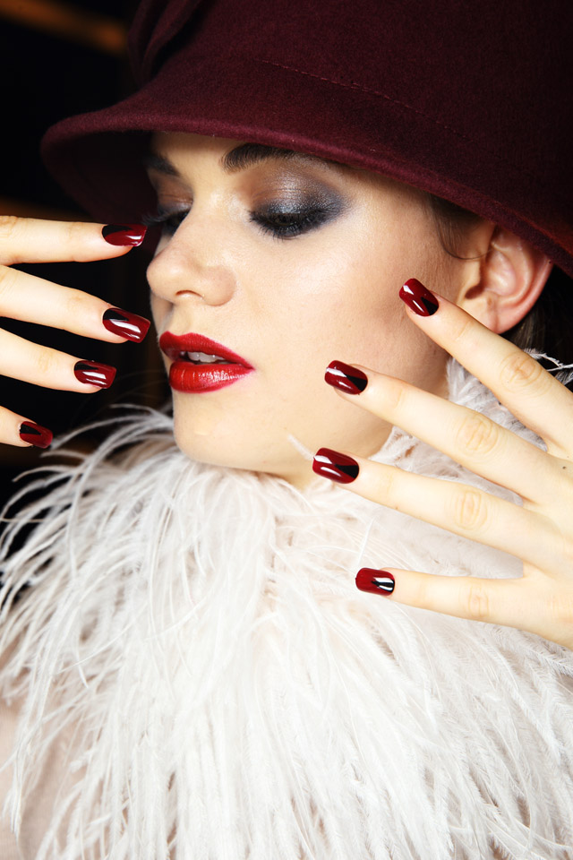 retro half moon nails for Joahnna Johnson MBFWA 2015