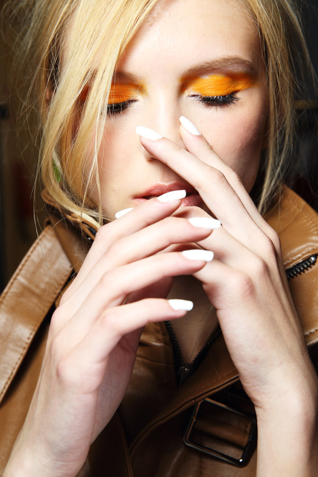 white matte nails Jennifer Kate MBFWA 2015