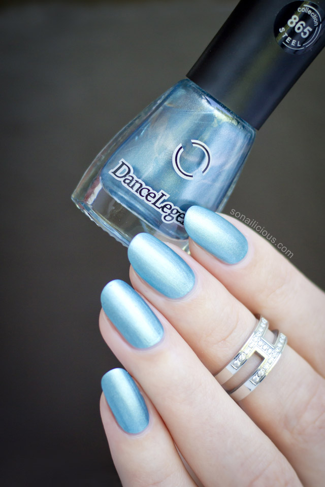 blue matte metallic polish