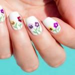Tutorial: Siberian Pansy Flower Nail Art