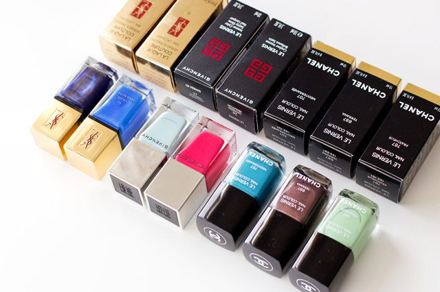 chanel, ysl and givenchy nail polish haul