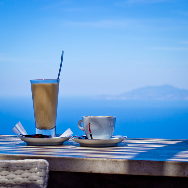 coffee in capri, italy