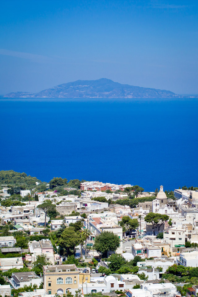 view from anacapri, capri italy