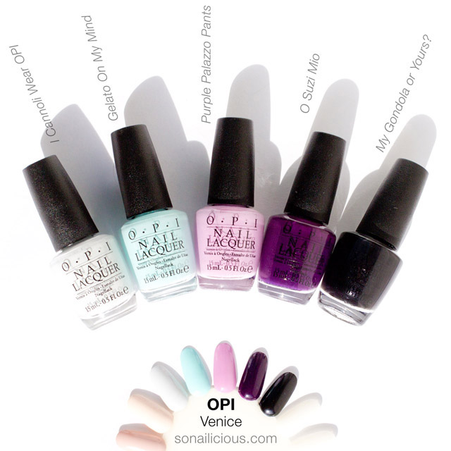 OPI venice swatches