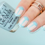 Nude And Blue French Manicure With OPI Venice