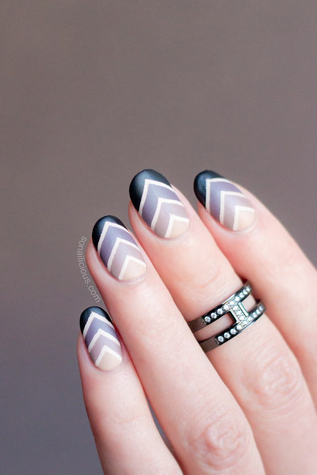 Roman Holiday Gradient Nail Art