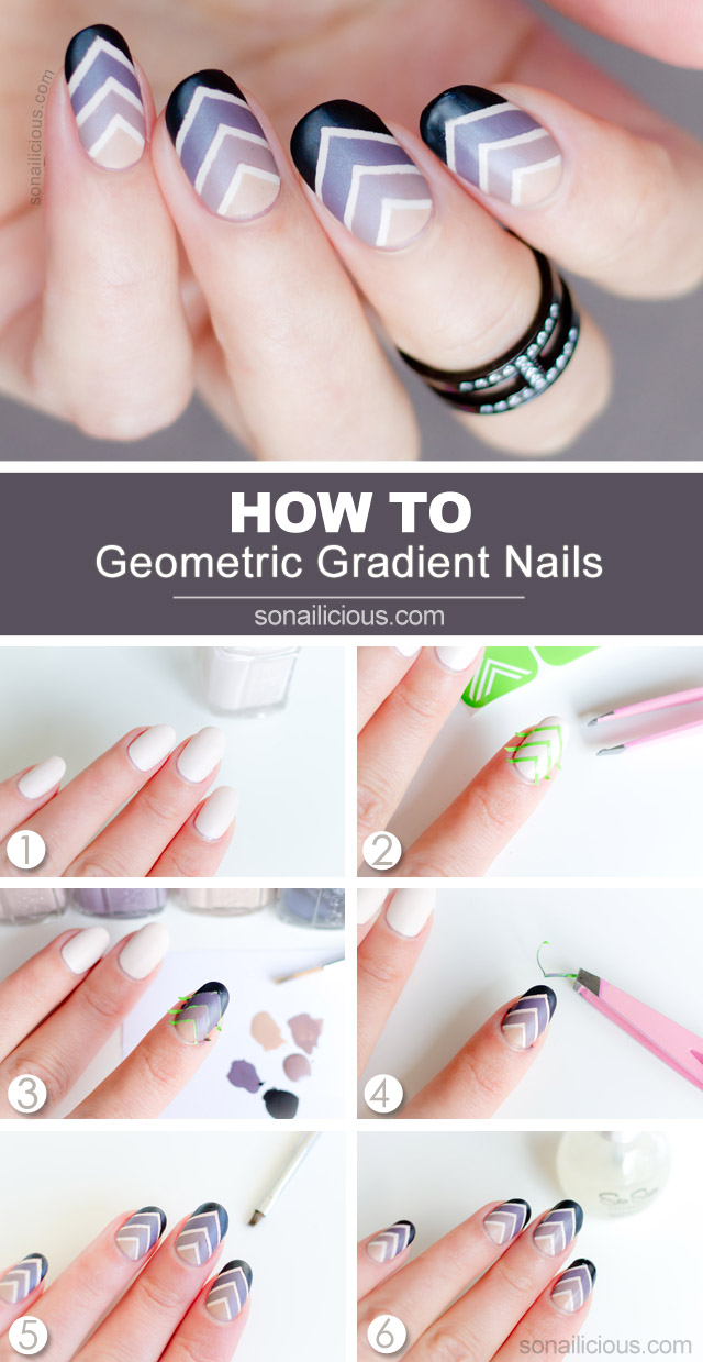 Roman Holiday Gradient Nail Art - Tutorial