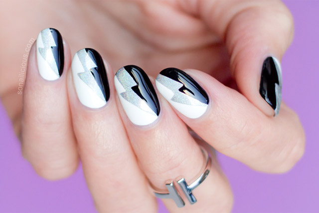 Graphic Black And White Nail Art Tutorial